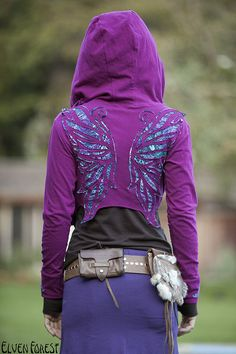 elven forest butterfly hoodie