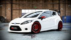 Ford Fiesta Modified, Custom Body Kits, Ford Focus Sedan, Ford Fiesta St, Import Cars, Vans, Car Ford, Future Car, Rally