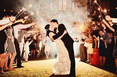 Sparkler Exit at Bella Collina  Orlando Wedding Photographer Claire Pacelli