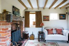 cosy living room in an idyllic country cottage