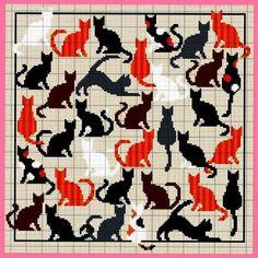 Community wall photos Cross Stitch Sampler Patterns, Cat Cross Stitches, Cross Stitch Samplers, Cross Stitch Charts, Cross Stitching, Cross Stitch Embroidery, Embroidery Patterns, Intarsia Knitting, Intarsia Patterns