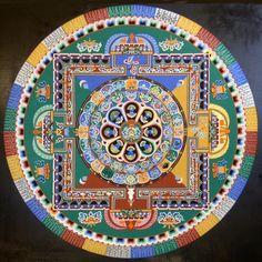 25 nejkrásnějších tibetských mandal pár okamžiků před jejich zničením | g.cz