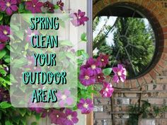 Learn the best methods for cleaning your exterior windows, patio furniture, brick or siding. Spring clean your outdoor areas with these tips.