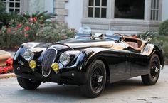 Jaguar XK120 SE Roadster. A magnificent automobile.