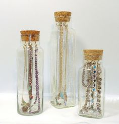 Jewelry Holder!!!   Unique Jewerly Storage // Vintage Apothecary Jar by PeacockGypsies, $25.00