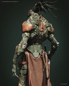 Software used on this project: ZBrush,Photoshop, Octane Render Ryuu Concept Character Concept, Character Art, Arte Ninja, Robots Characters, 3d Figures, Sci Fi Armor, Cyberpunk Character, Robot Concept Art, Robot Design