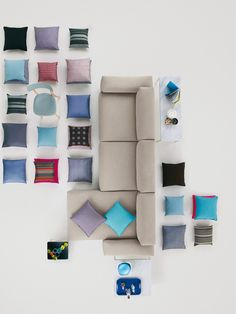 Furniture photography is often very similar – a perfectly styled eye level product shot or an interior showing the piece in the context of a handsome space. That common style might be why these unique product shots for the Place Sof . Furniture Layout, Furniture Plans, Furniture Design, Furniture Websites, Furniture Companies, Trendy Furniture, Cool Furniture, Vitra Furniture, Gothic Furniture