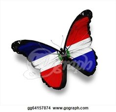 Dominican Republic Flag Symbol | Stock Illustrations - Flag of Dominican Republic butterfly, isolated ...