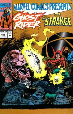 Marvel Comics Presents # 103 by Sam Kieth Ghost Rider and Doctor Strange