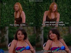 """Donna - """"hot Donna"""" - the tall girl's hero. She reminds me of my friend Creswell Creswell Silny ! Tall People Problems, Tall Girl Problems, Funny Picture Quotes, Funny Pictures, That 70s Show Quotes, Thats 70 Show, Tall Girl Fashion, Tv Quotes, Movie Quotes"""