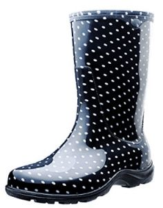 Sloggers Rain and Garden Boots with All-Day-Comfort Insoles, Size Black/White Polka Dot Print * Hurry! Check out this great item : Outdoor Shoes Tall Boots, Black Boots, Shoe Boots, Polka Dot Print, Polka Dots, Polka Dot Rain Boots, Garden Boots, Rain Garden, Boots 2016