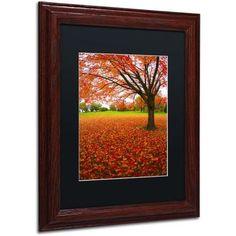 Trademark Fine Art Autumn Expressions Canvas Art by CATeyes, Black Matte, Wood Frame, Size: 16 x 20, Brown