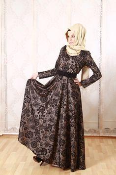 karacabutik, karaca, tesettür, tesettür modası, tesettür kombin, dantel elbise, tesettürlü elbisesi, tesettürlü bayan