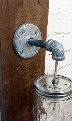 Mason Jar Sconce light fixture Rustic Reclaimed Barn Wood Mason Jar Hanging Light Fixture Industrial Made in America Primitive Bathroom