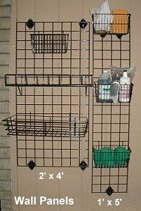 A wall organizer is ideal for small tack rooms, or to use on the wall in a wash rack. Anything that is customizable and adjustable like this is great for operations that are just getting started.