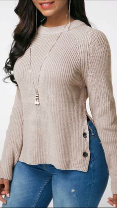 Stylish Tops For Girls, Trendy Tops, Trendy Fashion Tops, Trendy Tops For Women Cardigan Sweaters For Women, Long Sleeve Sweater, Venus Clothing, Look Fashion, Fashion Outfits, Look Office, Fall Capsule Wardrobe, Looks Cool, Women's Fashion Dresses