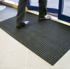 Model EM-0001 #Enviro-Mat Manufactured using 100% #recycled materials Heavy #rubber backing minimises movement on #carpet and hard floor surfaces Raised pattern removes #dirt and #debris Colours grey, brown, blue and black. See more at: http://shop.hsil.co.uk/p-3539-enviro-mat.aspx#sthash.oYEYHJs4.dpuf