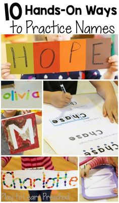 These are awesome name activities for the beginning of kindergarten!