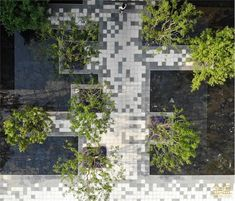 Landscape Plaza, Landscape Design, Garden Design, Architecture Building Design, Urban Architecture, Outdoor Paving, Outdoor Landscaping, Paving Pattern, Archi Design