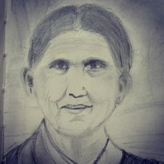 Pencil sketch of a lady I met