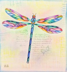 """Dragonfly From """"Animal Kingdom"""" by Millie Marotta Dragonfly Art, Dragonfly Tattoo, Fly Drawing, Animal Doodles, Colored Pencil Techniques, Animal Books, Coloring Book Pages, Coloring Sheets, Zentangle Patterns"""