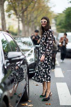 Giovanna Battaglia, No. 5 best dressed of fashion month, in Zac Posen sunnies!