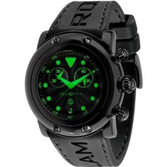 GLAM ROCK MEN'S MIAMI BEACH 46MM BLACK SILICONE BAND QUARTZ WATCH GR61116 #Casual