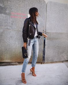 ACNE STUDIOS | mock leather jacket / MODE COLLECTIVE | mules
