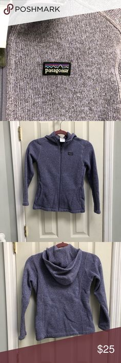Girl's Better Sweater zip jacket size Medium Patagonia Better Sweater purple full zip jacket.  Girl's size Medium, 10-12.  Excellent condition!   No trades No modeling  Bundle and save!! Patagonia Shirts & Tops Sweatshirts & Hoodies