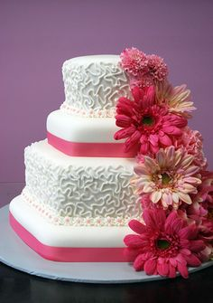 gerber daisy wedding cake - Google Search