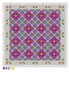 Hydrangea Needlepoint Pattern: The Basic Needlepoint Chart