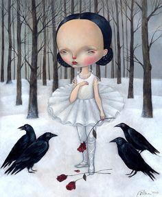 """Dance of the white swan"" by Dilka Bear http://www.etsy.com/shop/dilkabear"