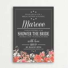Bridal Shower Invitation.  Elegant Vintage by BashoreDesigns, $10.00