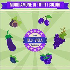 Facciamo scorta di melanzane, prugne, #frutti di bosco, #mirtilli, #more e #ribes perché ricchi di sostanze necessarie a proteggere la fragilità capillare e al miglioramento della vista. #frutta #verdura #blu #salute #benessere #mordiamone