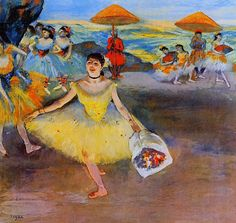 Degas -  A new one to me with the umbrellas!
