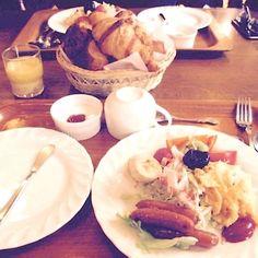 朝食召し上がれ #朝ごはん#クロワッサン #ボナペチ #瑞江