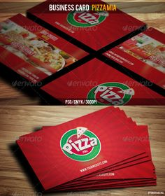 Business Card Pizza Mia - Industry Specific #Business #Cards Download here: https://graphicriver.net/item/business-card-pizza-mia/3067478?ref=alena994
