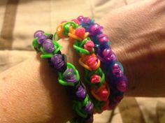My Eternity Rainbow Loom Bracelets!