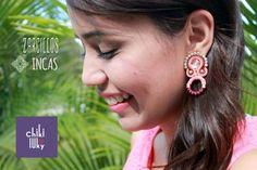 Zarcillos inspirados en la Cultura Inca para dar vida a un diseño elegante y exclusivo !!  INCA Earrings, inspired on Inca Culture giving life to an elegant and exclusive design !!  #Zarcillos #Earrings #LookChikiluky #Chic #Glamorous