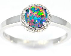 Vibrant fire opal