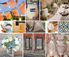 Color ideas  Swashbuckle The Aisle: Vintage Spanish Inspiration Board