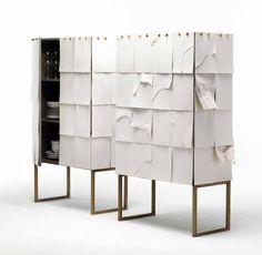 NEWS 2016 NOTES by Mogg /  Design by Claudio Bitetti, 2016 / Contenitore in mdf grigio con fronte e fianchi rivestiti da fogli bianchi in formato A4, sovrapposti e intercambiabili. / Container in gray MDF with front and sides covered by white paper sheets / #mogg #moggdesign #Notes #ClaudioBitetti #contenitore #storage #paper #container #white paper #personalised #Interior #Design #InteriorDesign #ItalianFurniture #Italian #Furniture #SaloneDelMobile #iSaloni #SalonedDelMobile2016