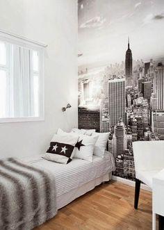 Comfy Minimalist Bedroom Decor Ideas Small Rooms - nellwyn news Teen Bedroom Designs, Bedroom Themes, Home Decor Bedroom, Boys Bedroom Ideas Tween Small, Small Room Bedroom, Trendy Bedroom, Small Rooms, Male Bedroom, Small Spaces
