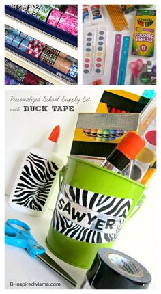 Label Back to School Supplies or make a fun kit
