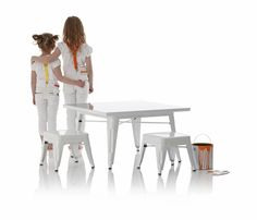 industry table and chair set by Little Nest