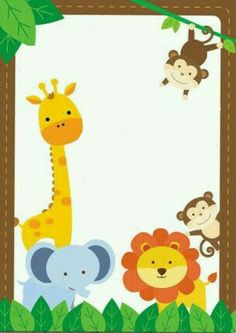Safari Theme Party Birthday Thank You Cards Jungle Animals Baby Shower Games