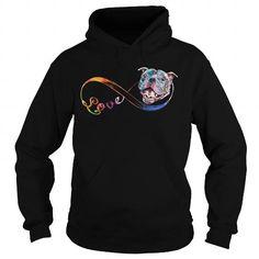 Awesome Tee Love Infinity  PitBulls Shirts & Tees