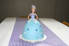 Cinderella cake I made for the little one's birthday