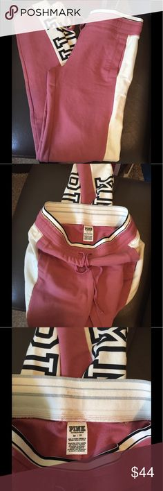 Pink VS Pants Size XS Beautiful comfy sweat pants Victoria secret  PINK PINK Victoria's Secret Pants Track Pants & Joggers