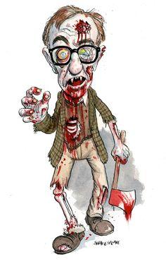Woodie Allen zombified
